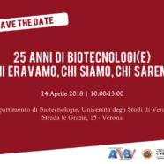 14/04 – 25 anni di biotecnologi(e) si incontrano a Verona